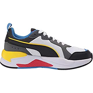 PUMA X-Ray Sneaker, White Black-Dark Shadow-high Risk Red-Palace Blue, 9.5 M US