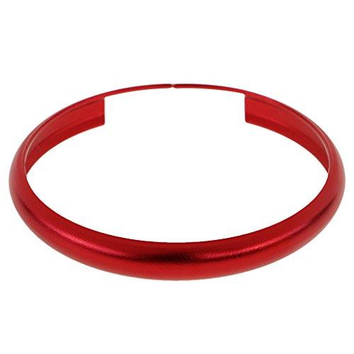 MonkeyJack ALUMINUM RING TRIM FOR BMW MINI COOPER SMART KEY ENTRY FOB KEYCHAIN - Red