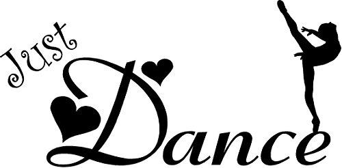 CreativeSignsnDesigns Just Dance- Girls Vinyl Wall Decal (Black, ()