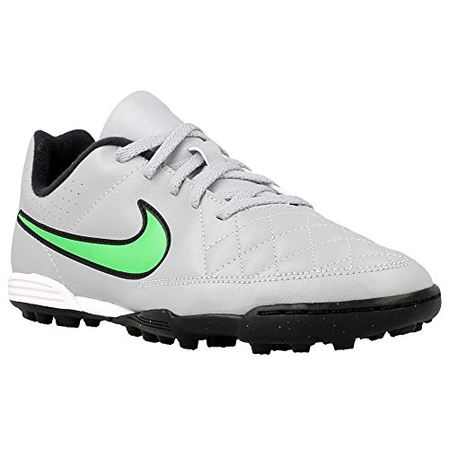 Nike - JR Tiempo Rio II TF - 631524030 - Color: Grey-Green - Size: 6.0 by NIKE
