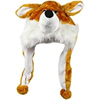 Bioterti Plush Fun Animal Hats –One Size Cap - 100% Polyester With Fleece Lining