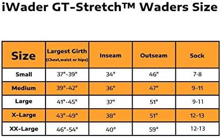 IWADER S1 - Calcetín transpirable para el pecho, elástico con ...