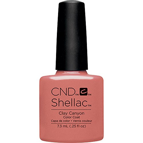 CND Shellac Nail Polish, Clay Canyon, 0.11 lb.