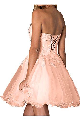 A Ballkleider Brautjungfernkleid Abendkleider Kurz Linie Dunkelrosa Ivydressing Apitze Elegant Axgq5CB6