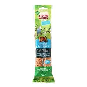 Living World Budgies Fruit Treat Sticks, 2-Ounce 113