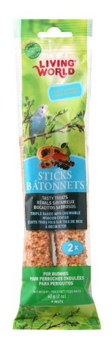 Living World Budgies Fruit Treat Sticks, 2-Ounce - Finch Stick