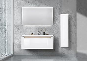 Amazon De Intarbad Badmobel Set Monza Vormontiert 120cm Waschtisch