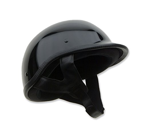 Gloss Black Polo Helmet - HCI Unisex Adult -105 Designer Polo Gloss Black Half Helmet 105-210-04