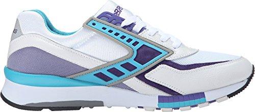 Brooks Heritage Mens Regent Bianco / Viola Opulance / Scuba Blue Sneaker 8.5 D (m)