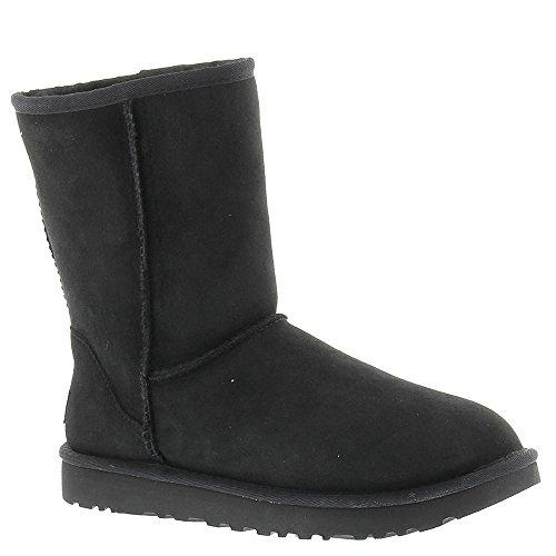 UGG Australia Women's Classic Short II Sheepskin Winter Boots Black Size ()
