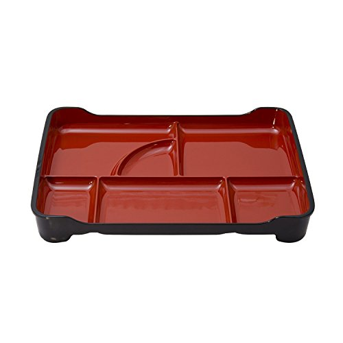 M.V. Trading MWZ14RV Japanese Lacquer Bento Box with 6 Divided Compartments, ()