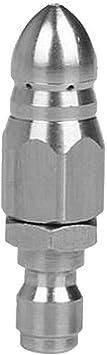 Boquilla giratoria de limpieza SENRISE plateado boquilla de chorro para limpieza de tuber/ías de alcantarillado