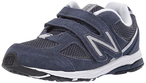 New Balance Boys' 888v2 Hook and Loop Running Shoe, Navy/Grey, 8.5 XW US Toddler