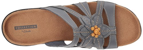 cheap sale limited edition sale visit new CLARKS Women's Lexi Myrtle Sandal Blue/Grey Leather sale fake low price AesFkTQMPO