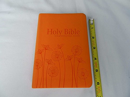 New International Version NIV Holy Bible with Thumb Index, Tangerine Orange Vinyl Bound with Dandelion Motif (Motif Index)