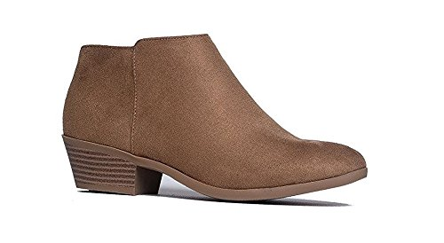 SODA Western Ankle Boot Cowgirl Low Heel Closed Toe Casua...