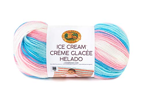 Lion Brand Yarn Ice Cream Hometown Yarn, Cake Batter (Best Cake Batter Ice Cream)