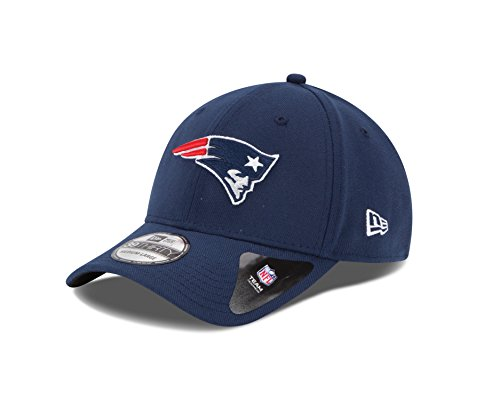 NFL New England Patriots Team Classic 39THIRTY Stretch Fit Cap, Small/Medium, Blue