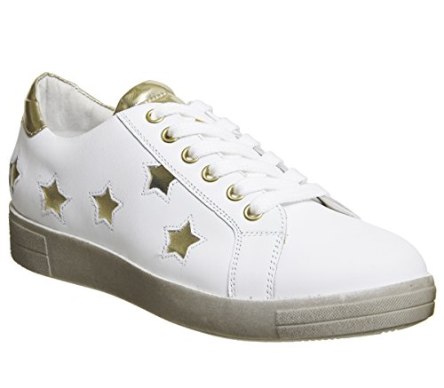 Office Famous Lace Ups White With Gold Stars 1l4KoLsId8