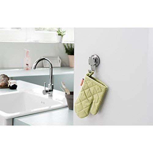 Compactor Bath ran7818/Set di 4/Piccoli Ganci Acciaio Laccato Argento 5.4/x 8/cm Cromato S Suction Cup : TPU And ABS Chrome 24H