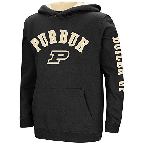 (Colosseum NCAA Youth Boys-Crunch Time-Hoody Pullover-Purdue Boilermakers-Black-Youth XL)