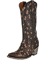 Old Gringo L2463-3 Chocolate Byroni 13' Shaft Floral Crystal Boots