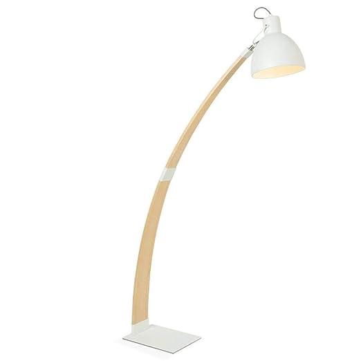 MASOSER Lámpara estándar Lámpara de pie moderna y minimalista de ...