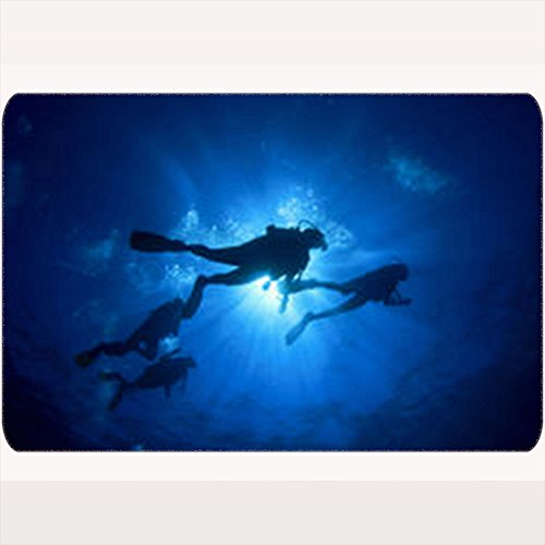Gisruru Non Slip Door Mats Scuba Diving Parks Outdoor Deep