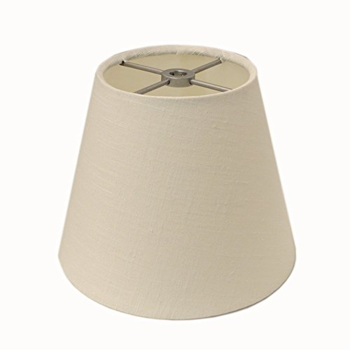 Style Crossbars (Small White Washer Style Lampshade W/silver Crossbars 5.5 inches Tall)