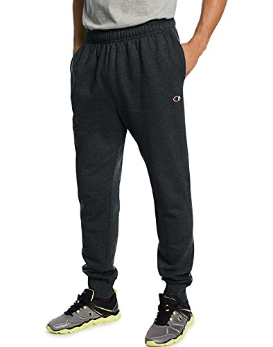 Champion Men's Powerblend Retro Fleece Jogger Pant, Black, XX-Large