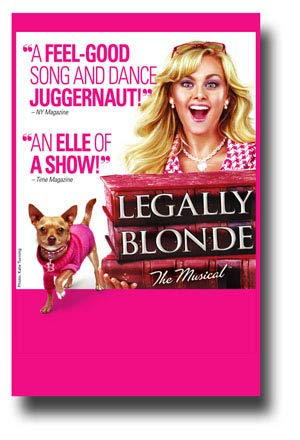 Legally Blonde Poster Broadway Musial Promo 11 x 17 inches Books Quotes Pink