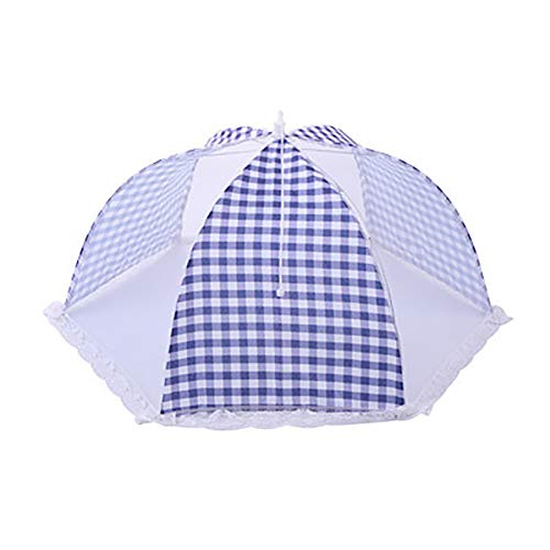 difcuyg5Ozw 18 inch Portable Round Grids Foldable Mesh Breathable Anti Fly Mosquito Dining Table Meal Durable Food Cover Blue