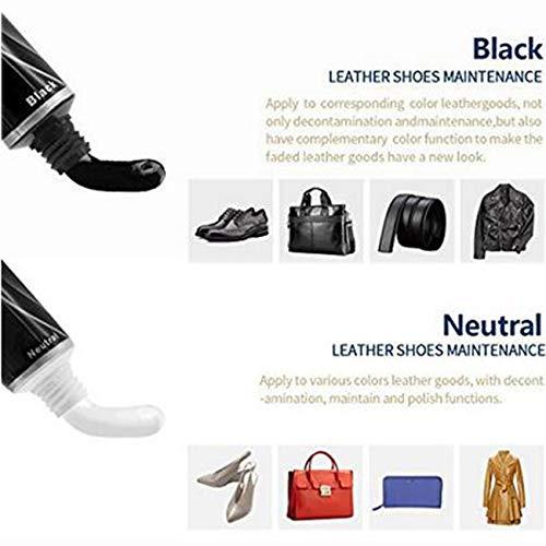 LHKJ Kit d'entretien de la Chaussure, Kit d'entretien de Cuir Portable. Kit de Voyage pour Boîte de Cylindre en Cuir… 3