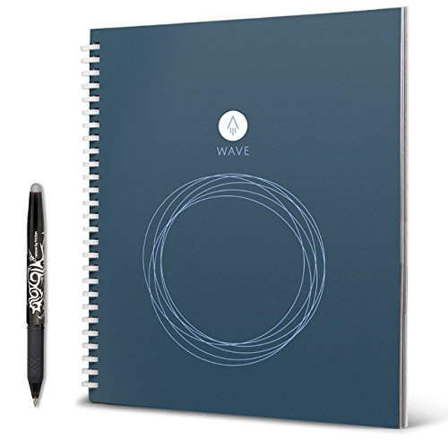 Rocketbook Wave Smart Reusable Notebook - Upload Notes Using iOS/Andriod...