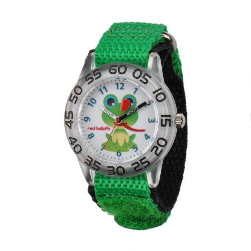 Red Balloon Kids' W001474 Plastic Analog Display Quartz Green Nylon Strap Watch