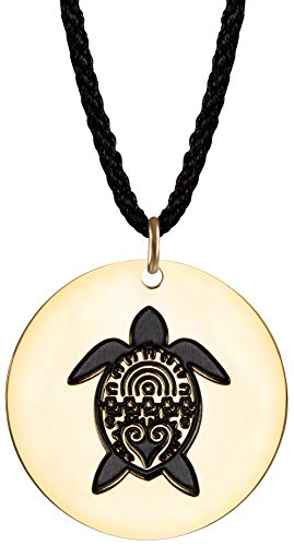 Sun Life Style Save The Turtle Bracelet and Anklet - Sea Turtle Jewelry for Summer with Adjustable Fit (Gold-Tone Necklace)