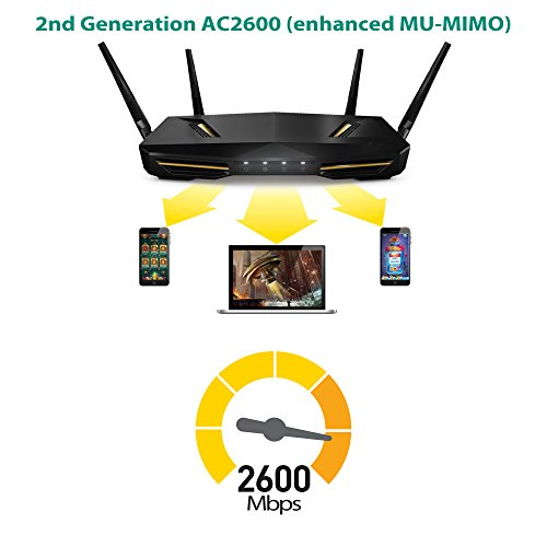 Zyxel Armor Z2 AC2600 MU-MIMO Wireless Router with StreamBoost and Beamforming Antennas [NBG6817]