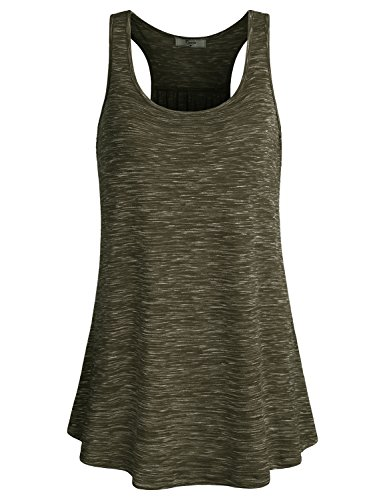 Junior Cruise Jacket - Cestyle Tunic Tops for Leggings for Women,Summer Exercise Sleeveless Loose Blouses Juniors Active Ruched Front Long Tank Shirts Olive Green Size 16