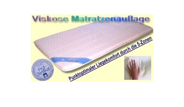 Matratzenauflage 5 Zonas Viscosa visco Espuma Colchón Colchón 140 x 210: Amazon.es: Hogar