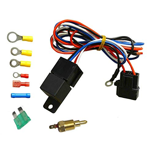 OzCoolingParts Universal Radiator Racing Wiring & 30 AMP Relay & Temperature Control Suit Thermo Fan Kit