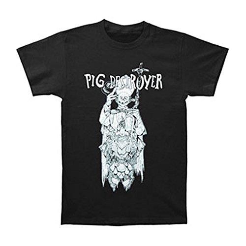 JJlinge Pig Destroyer Men39;s Atheist T-shirt Black Large