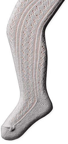 Country Kids Little Girls' Open Weave Cotton Pellerine Tights, Silver/Gray, 1-3 Years Country Kids Nylon Tights