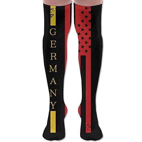 DACOCO USA Germany Flag Grunge Unisex Fun Novelty Knee High Socks Fashion Tube Stockings Size - Usps Germany