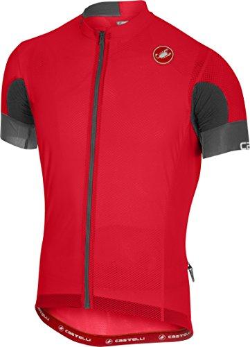 Castelli Aero Race 4.1 Solid Full-Zip Jersey - Men's Red, M