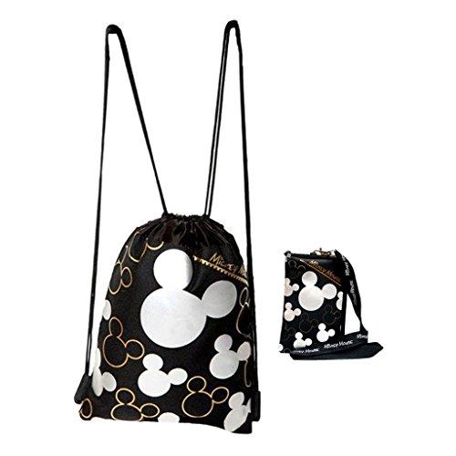 Disney Mickey Drawstring Backpack Lanyard