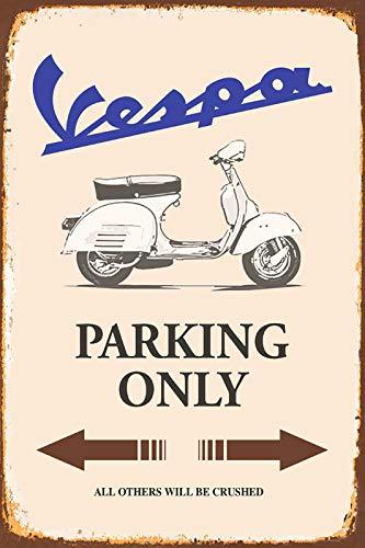 Deko 7/Piastra in Metallo 30/x 20/cm Vespa Parking Only