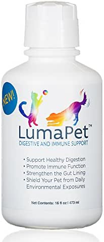 LUMAPET Digestive & Immune Support   Terrahydrite Humic Substances and Mineral Amino Acid Complexes for Healthy Digestion, Gut Lining, Immune Function, Shield from Environmental Factors (16-Ounce)