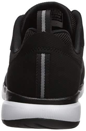 Skechers Women's Flex Appeal 3.0-go Forward Sneaker, BKW, 8.5 W US