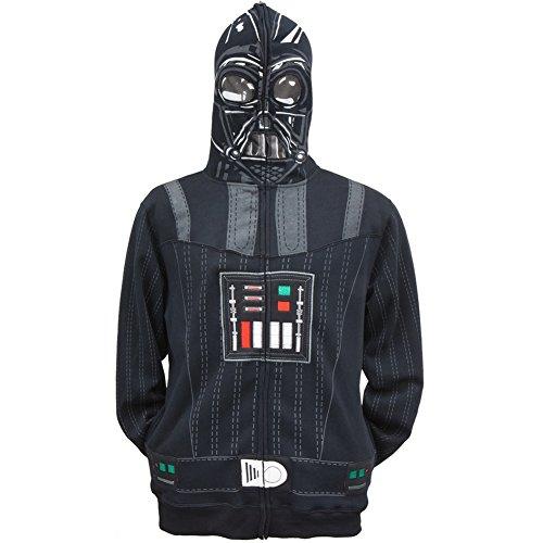 [Star Wars Men's Sith Full Face Fleece Hoodie, Black, Medium] (Star Wars Full Face Darth Vader Hoodie)