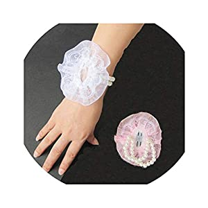 10pcs Wrist Corsage Bridesmaid Sister Girl's Hand Flowers Artificial Bride Flower for Wedding Party Decoration Prom Wreath 44